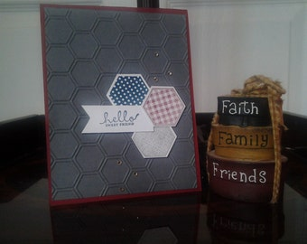 Blank note card - Hello Sweet Friend