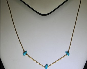 Turquoise necklace nuggets