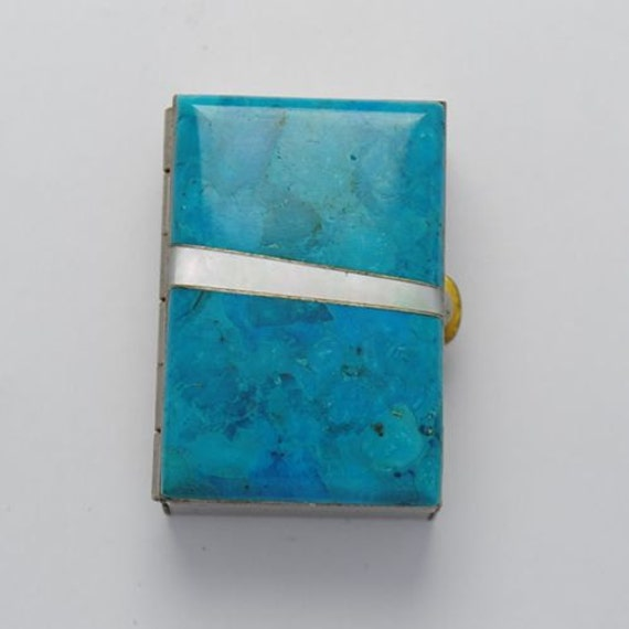 Turquoise and mother of pearl box