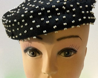 Great Beaded Vintage Hat!