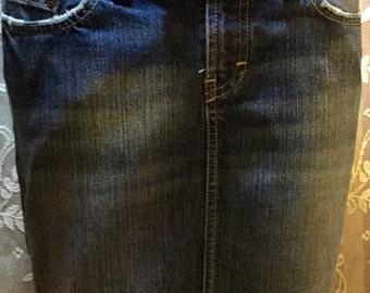BKE Grunged Denim Skirt!