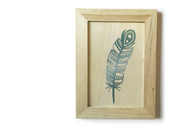"""Little Hawk"" Indian feather paper cut, ideal for children"