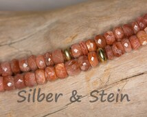 sunstone necklace faceted