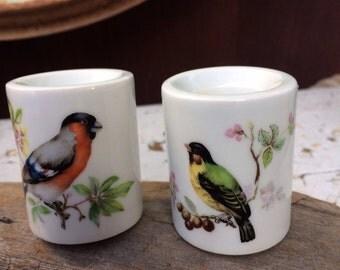 Ceramic Bird Candle Holder, Hostess Gift, Funny Design West Germany Porcelain Bird Candle Stick Holders,