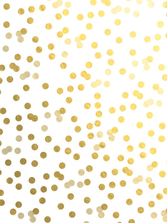 Gold polka dots vinyl wall decal sticker wall art dots Nursery Decor ...