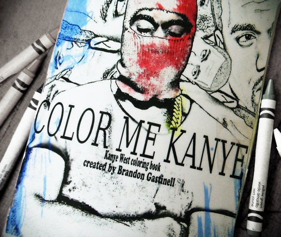 i illustrated a kanye coloring booklet spent a couple weeks editing different photos for the book ended up with 16 pages total