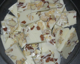 White Chocolate Almond Bark