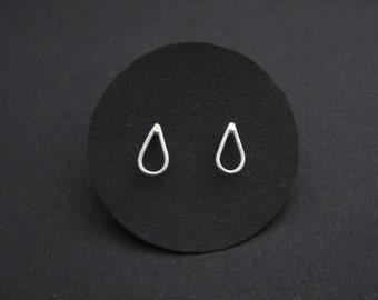 Earrings, sterling silver, drops, minimalist, 5% donation