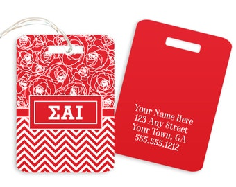 Sigma Alpha Iota // ΣΑΙ // Geometric // Sorority Luggage Tag