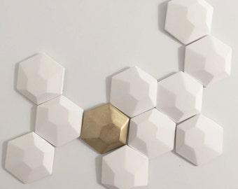 3d wall art hexagon tiles