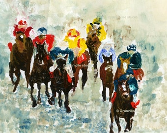 At the Races Limited edition Signed Print
