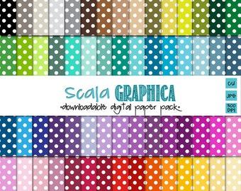 Polka Dot Medium Digital Paper Basic 12 [Instant Download]