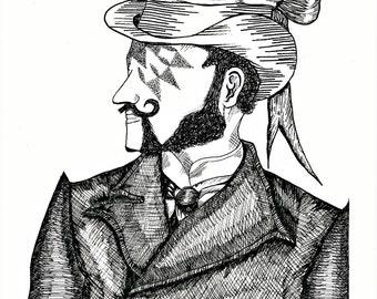 Victorian Gentleman Print.