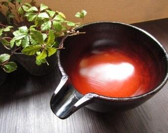 """Japanese Vintage """"Katakuchi"""" of """"Urushi"""", Lacquered Salad Bowl from 1980"""
