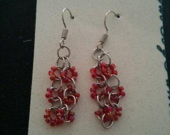 drop ring dangle earrings