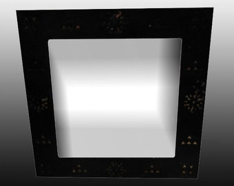 Square All Metal Moroccan Mirror