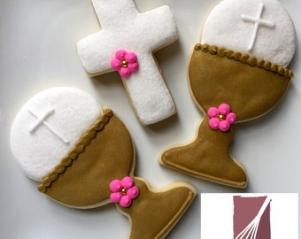 First Communion favor cookies (1 dozen)