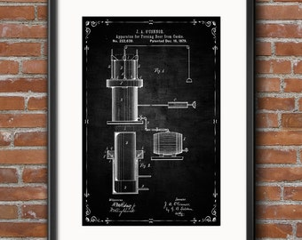 BEER GIFTS - Beer Brewing Patent Print Poster, Beer Patent, Beer Brewing Print, Beer Brewing Art, Beer Brewing, Beer Brewing Wall Art - 0406