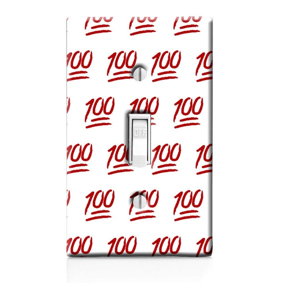 Emoji 100 Switch Plate Cover