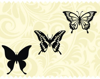 Butterflies - SVG - PNG - JPEG - dxf - pdf - Printable Clipart - Iron on Transfer for Fabric  - Vinyl Cutting - Laser Engraving