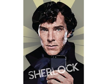 Sherlock Holmes poster A2/A3/A4 Instant Digital Download