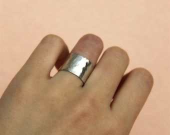 zz Handmade Jewelry 925 sterling silver hammered band ring