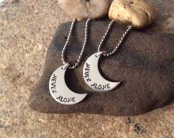 never alone under the moon necklace