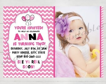 Birthday Invitation girl, birthday invitation photo, Birthday Invites, invitation template, birthday invitation for girls , printed invites