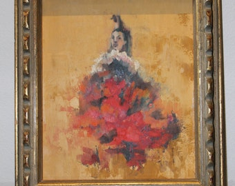 S A L E: Original Flamenco Dancer Oil Painting