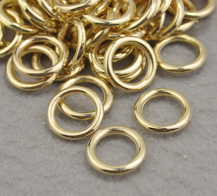 gold ccb plastic rings 15mmfor necklace bracelet bead