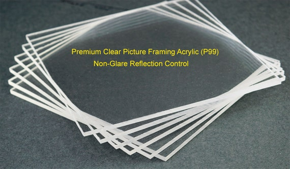 Non Glare Picture Framing Acrylic Sheet. Reflection Control