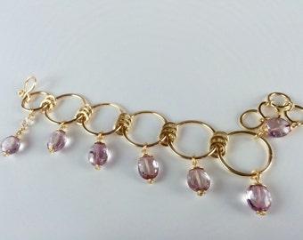 Pink Crystal Quartz Bracelet