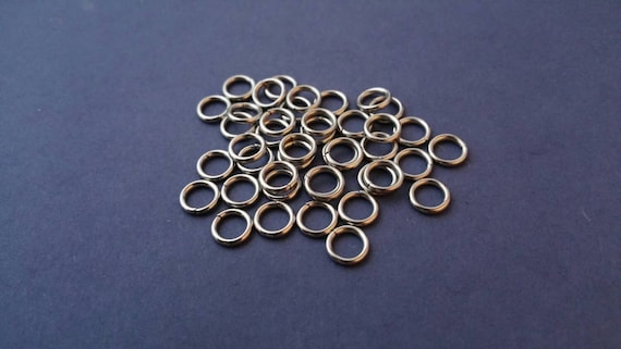 8mm JUMP RINGS, 8C, 16 gauge wire, Durable Stainless Steel Jump Rings, Jump Rings for Necklaces, Super Strong, Jewelry Findings, Supplies