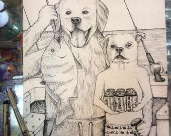 Custom animal drawings