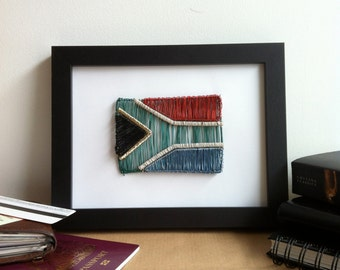 South Africa Flag Wire Art