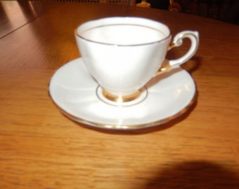 ENGLAND PLANT TUSCAN Teacup and Saucer