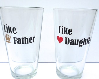 Birthday Gift For Dad / Dad Beer Glass / Dad Birthday Gift from Daughter / Personalized Dad Birthday Gift / Dad Beer Glass / Gift For Dad