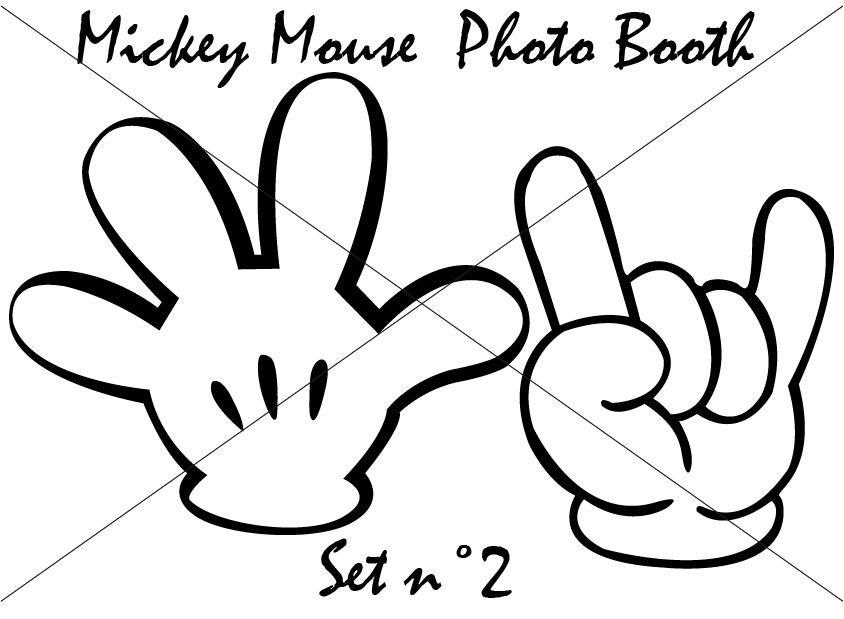 Michey Mouse Photo Booth Set 2 Da Stampare DIY Fantastico