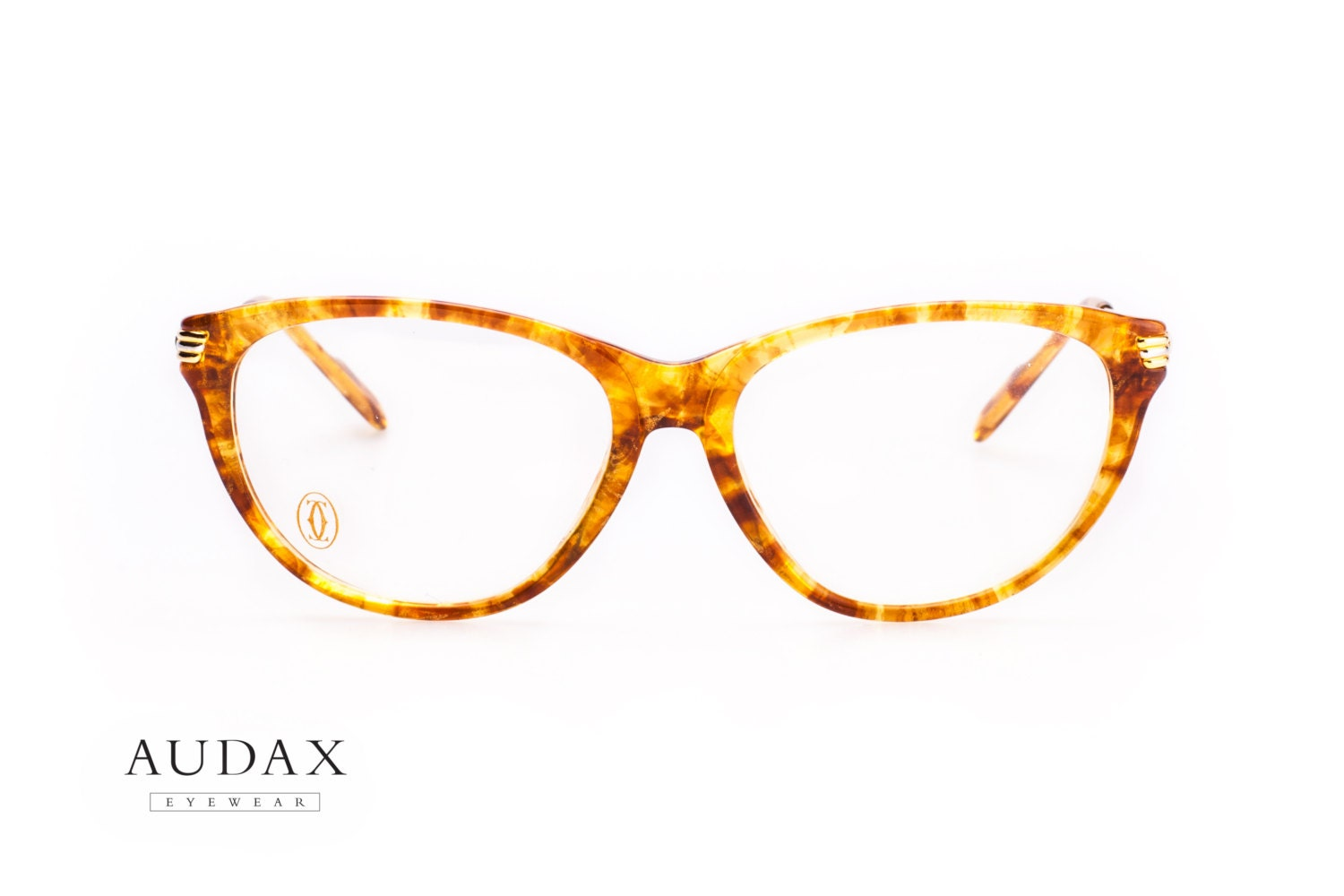 76390b6d9aa4 Cartier Eclat   luxury cateye eyeglasses   ladies eyeglasses   18kt gold  plated temples and translucent
