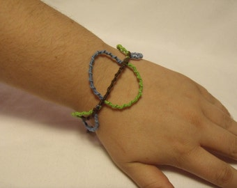 Green, Blue and Brown Circle Bracelet
