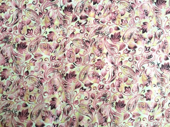 Pink paisley fabric by the yard gold pink fabric pink for Fabric by the yard near me