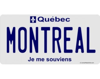 Quebec Montreal Photo License Plate - LPO512