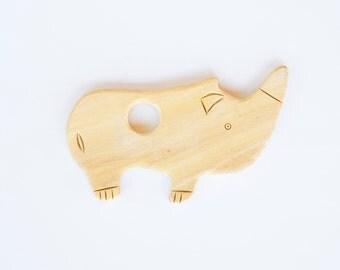 Rhino Wooden Teether