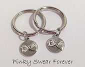 2 Pinky Promise Best Friends Keychains, His and Hers, Couples Key Chains, Pinky Promise Keychain, Boyfriend Gift, Gift for Him, Pinkie Swear