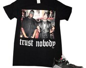 T Shirts To Match Jordan Son of Mars Sneakers Big Tupac Trust Nobody Streetwear Custom Hip Hop Sneaker Kicks T Shirts