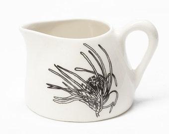 Ceramic Milk Jug - Small Protea Flower