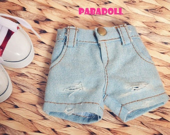 Distressed Short Pants Jeans Pants for Bjd Doll  1/4 Msd 1/3 SD16 IP EID Doll Clothes Customized