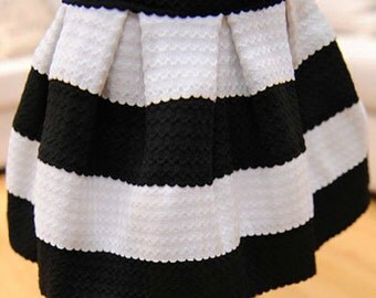 Black & White Coco Skirt