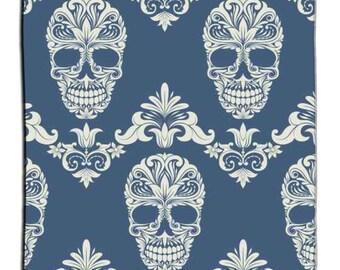 Eco Friendly Floral Sugar Skull Tattoo Inspired Shower Curtain