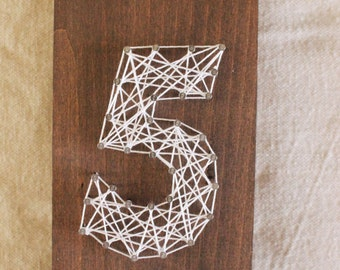 String Art Event Table Numbers